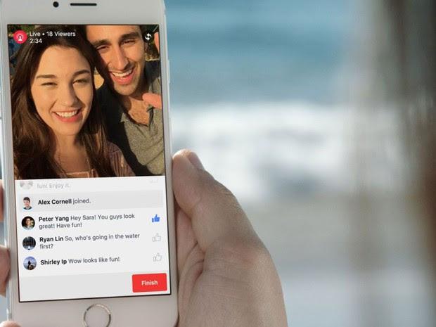 Facebook leva transmissões ao vivo em vídeo para o aplicativo. (Foto: Divulgação/Facebook)