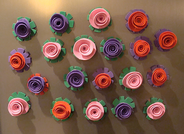 Rosebud Magnet Party Favors Made With Craft Foam Creative Jewish Mom