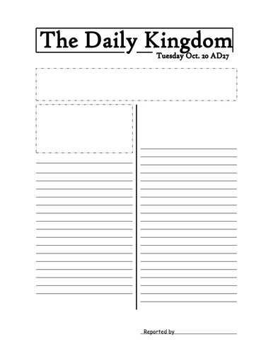 Newspaper Template by jmurphy37 - Teaching Resources - TES