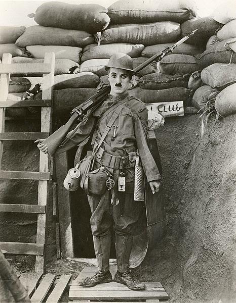La Gran Guerra, un siglo despues: bibliografía y filmografía recomendadas: Chaplin, en Armas al hombro