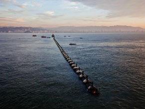 Emissário submarino de Santos  (Foto: Divulgação/ Sabesp)