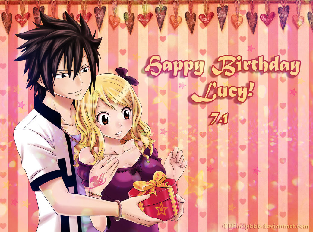 Happy Birthday Lucy By Milady666 Lucy X Gray Fan Art 32822494