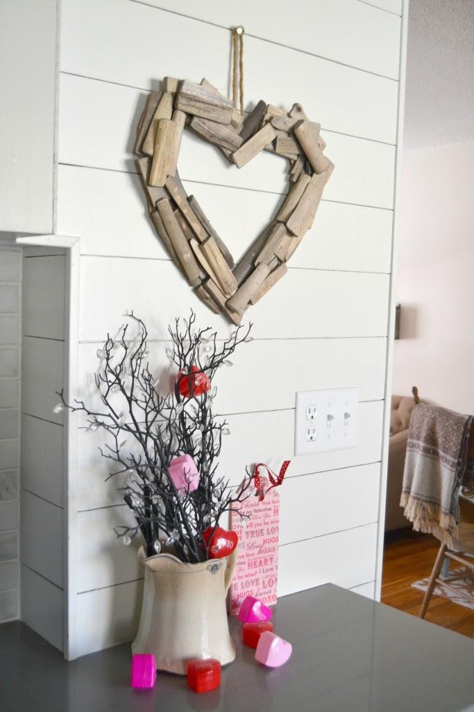 Driftwood heart wreath