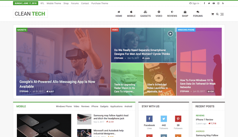 Publisher AMP news theme