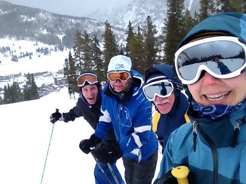 Marthon and Torstin skiing Copper Mountain