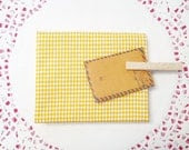 Buttery Yellow Gingham (Small) Print Cotton Fabric in A Fat Quarter - Zakka