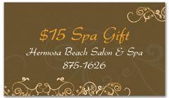 CPS-1064 - salon coupon card