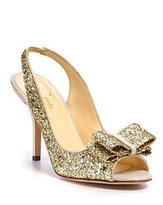 Kate Spade Charm Glitter Pumps