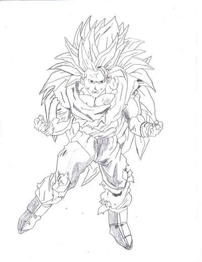 Coloriage De Dragon Ball Z Sangoku Super Sayen 10 Coloriage Dragon
