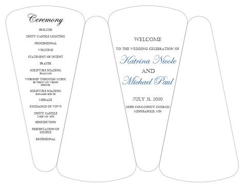 wedding programs fans templates template business