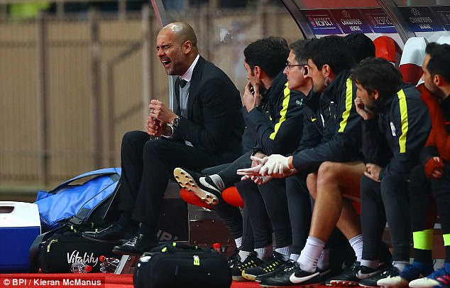 Pep Guardiola looked devastated when Monaco netted their third on the night to win the tie