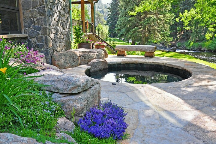 Lovely Backyard Spa