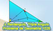 Problema de Geometría 1026 (English ESL): Triangulo Rectángulo, Angulo Triple, Congruencia