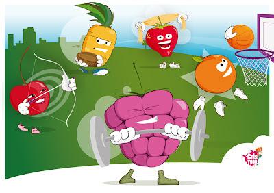 Cristoon - Les sporty fruits