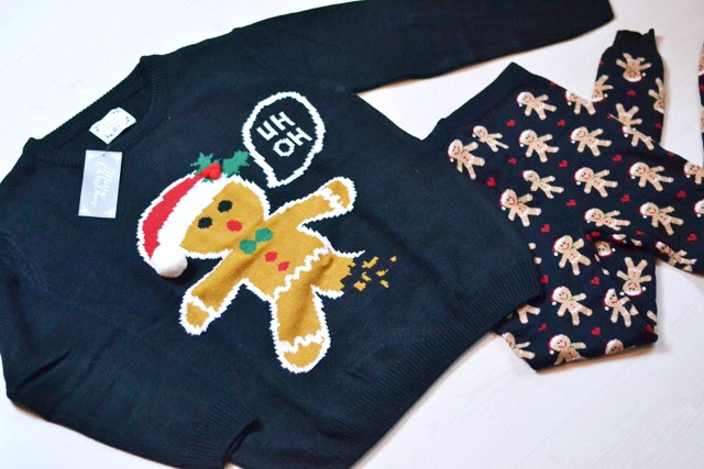 Primark, christmas sweater, leggings, xmas, gingerbread, winter