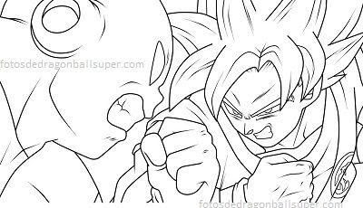 Dragon Ball Super Goku Vs Jiren Para Colorear