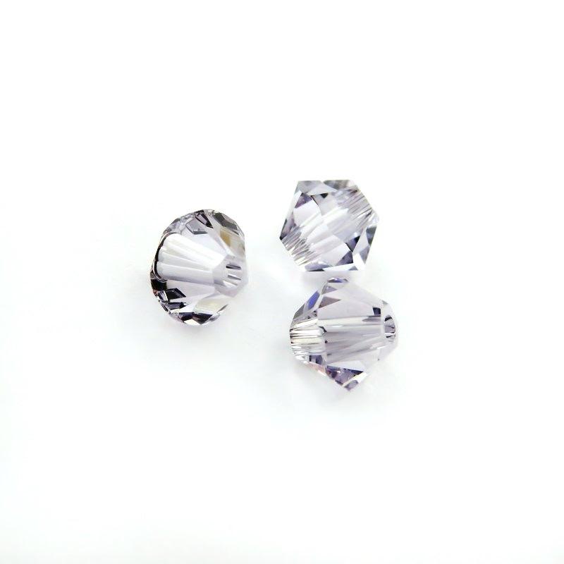 27753011333265 Swarovski Elements Bead - 4 mm Faceted Bicone (5301) - Smokey Mauve (36)