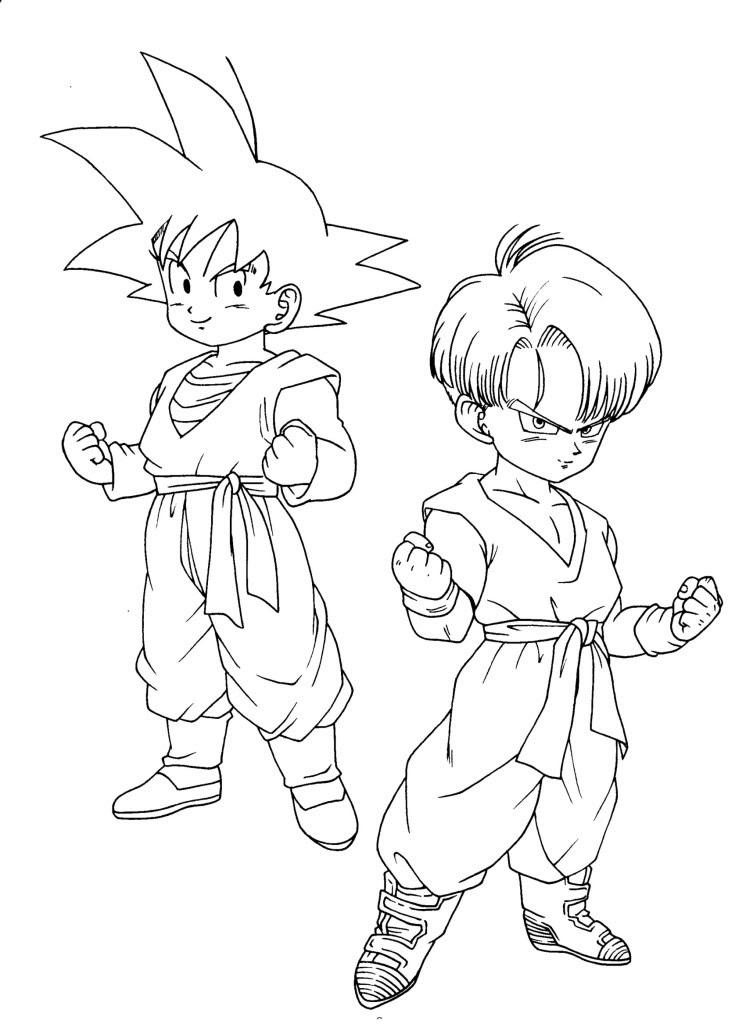 Dibujos Para Colorear De Dragon Ball Gt Az Dibujos Para Colorear