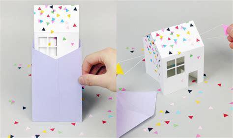 3D Paper House Invitations : diy paper invitation