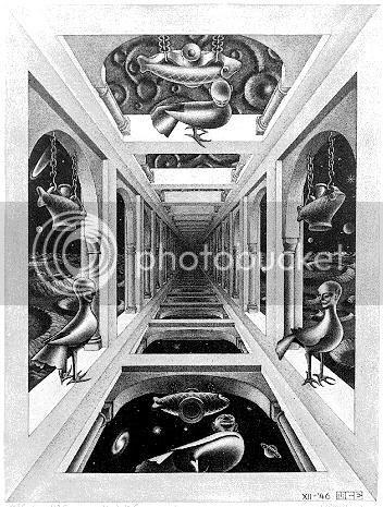 Escher - Um outro mundo I - Perspectiva Linear