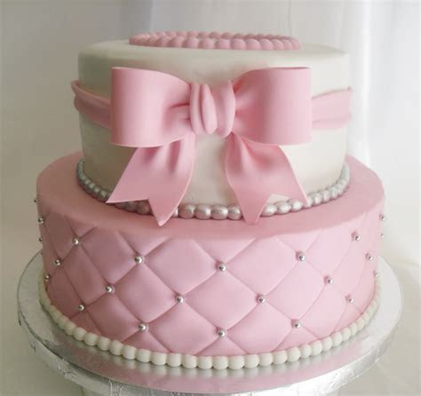 made FRESH daily: Quilted Pink and White Baby Shower Cake!