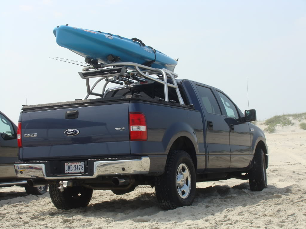 If you're carrying a kayak or canoe, there are racks just for those.