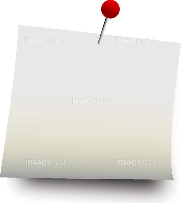 オフィス 付箋 金属 メモ帳 クリップアート 発表 黄色 赤色の画像素材