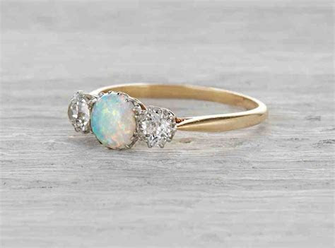 Vintage Opal Engagement Rings   Wedding and Bridal Inspiration
