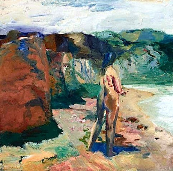 Figure with White Lake, 1964 Elmer Bischoff