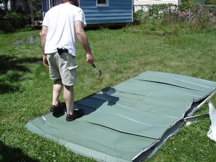 Flat shed