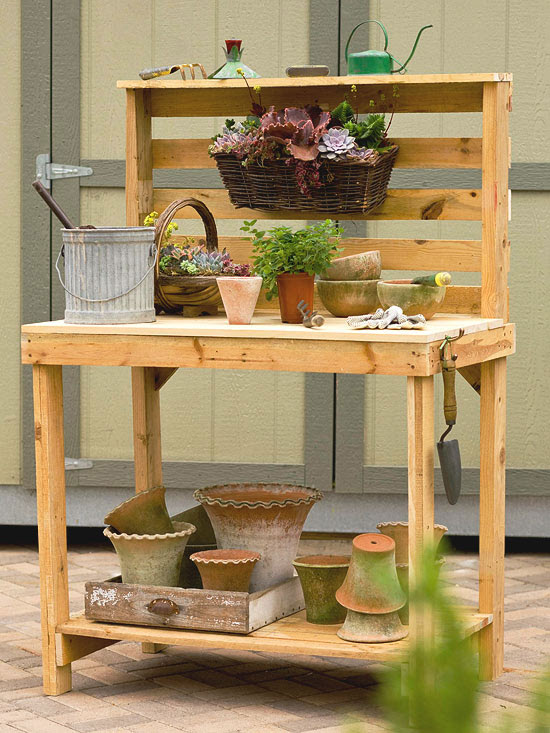 Make Your Own Garden Potting Bench | Herbs and Oils Hub