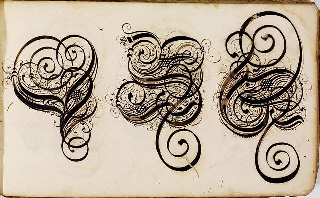 Kalligraphische Schriftvorlagen by Johann Hering h