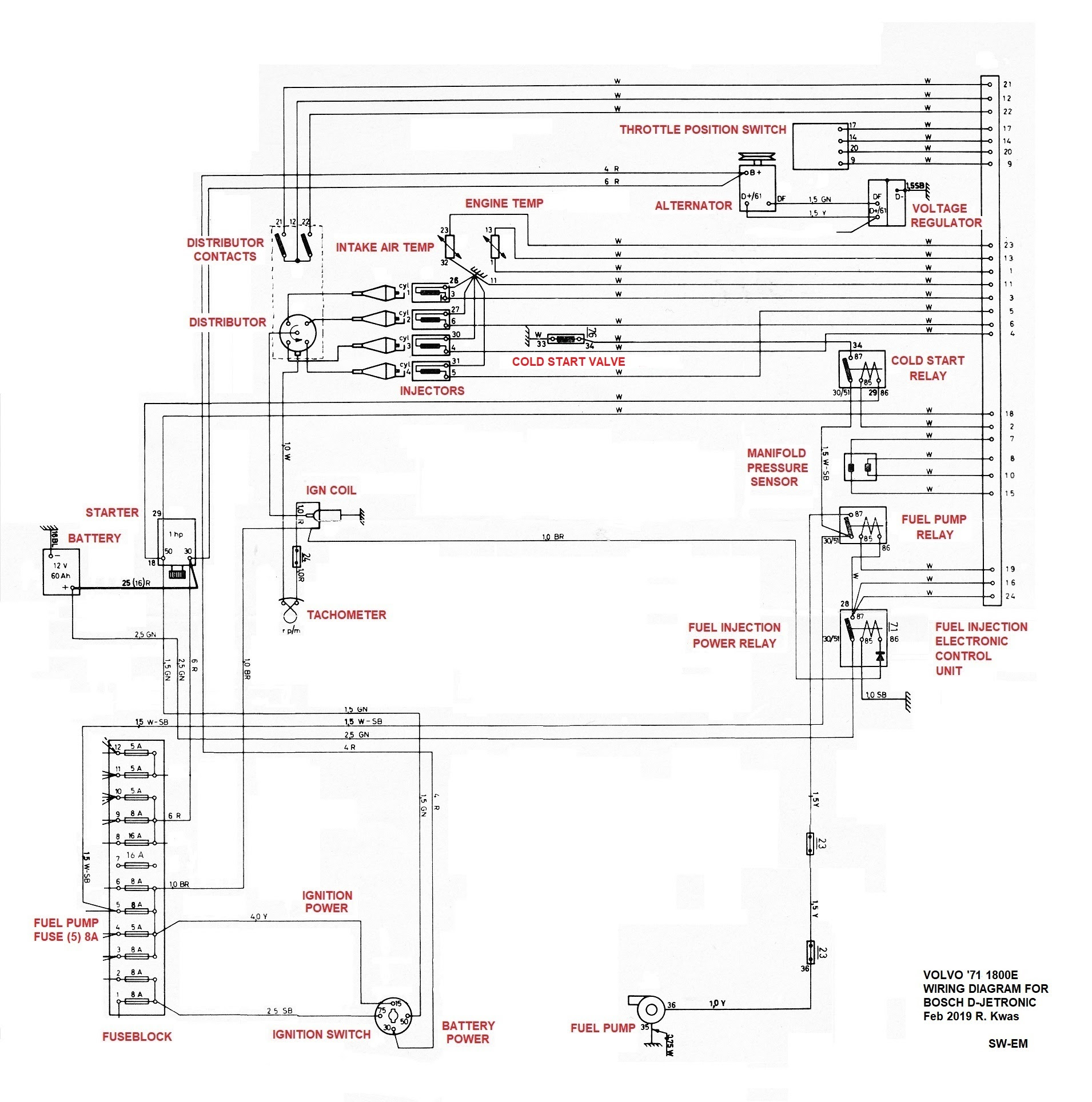 Ignition Wiring Diagram 71 K 5
