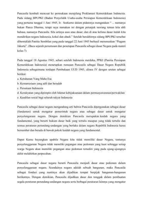 Pancasila Sebagai Dasar Negara Dan Pandangan Hidup Bangsa Pages 1 50 Text Version Anyflip