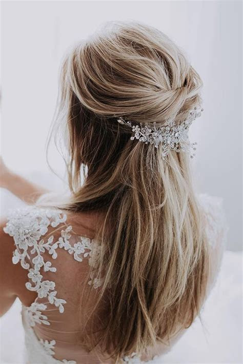 42 Half Up Half Down Wedding Hairstyles Ideas   beauty
