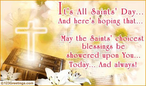 Choicest Blessings  Free All Saints' Day eCards