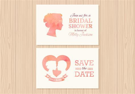 Wedding Invitation Vector Cards   Download Free Vector Art