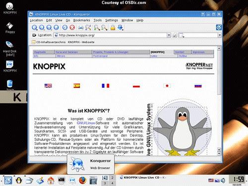 Knoppix Screenshot - browser