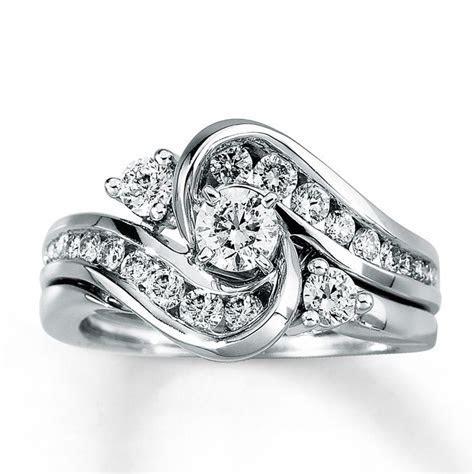 Kay   Diamond Bridal Set 1 ct tw Round Cut 14K White Gold