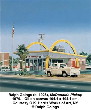 Ralph Goings (b. 1928), McDonalds Pickup 1970 by artimageslibrary