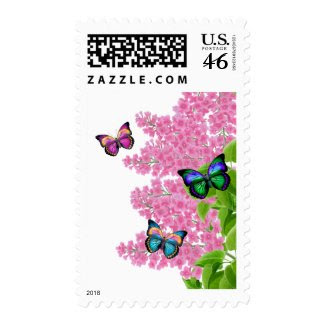 Spring Butterflies Postage stamp