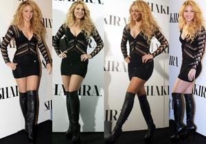 Shakira Microvestido Con Botas Altas