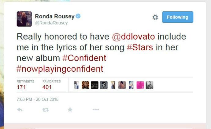 Ronda Rousey twitter Demi Lovato