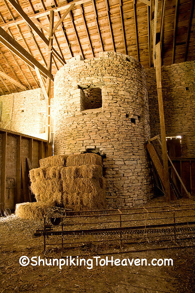 Silo In Drive-Through Stone Barn