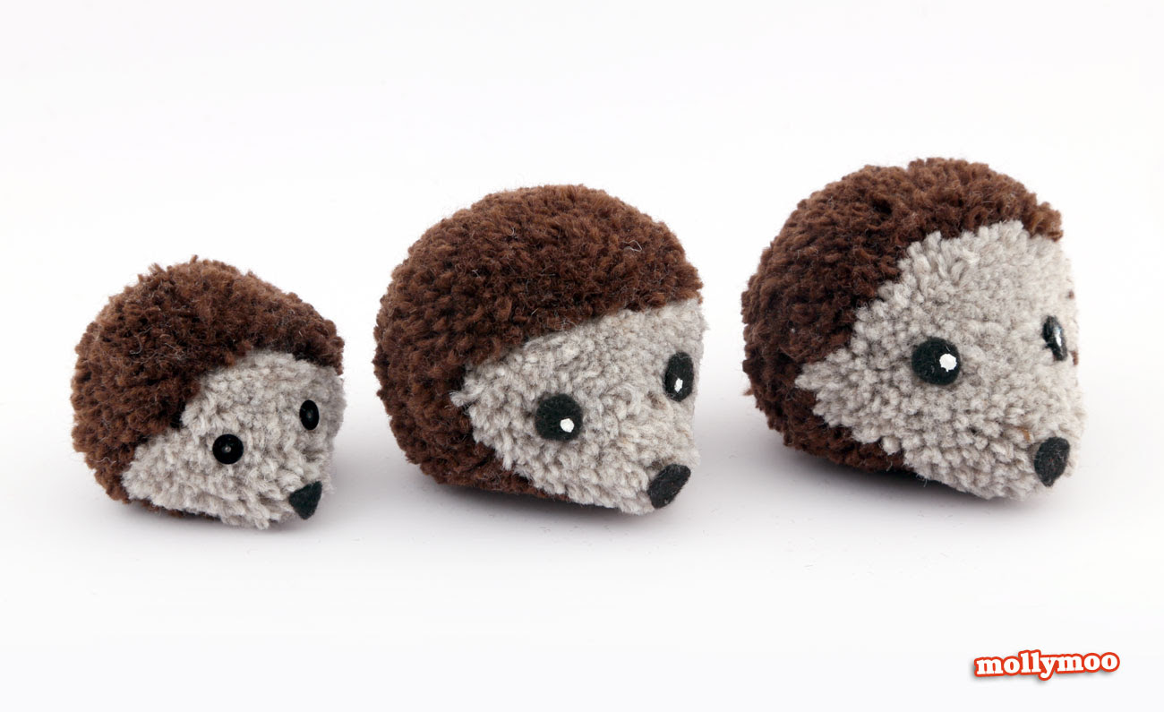 how to make pom pom hedgehogs, Michelle McInerney, MollyMoo