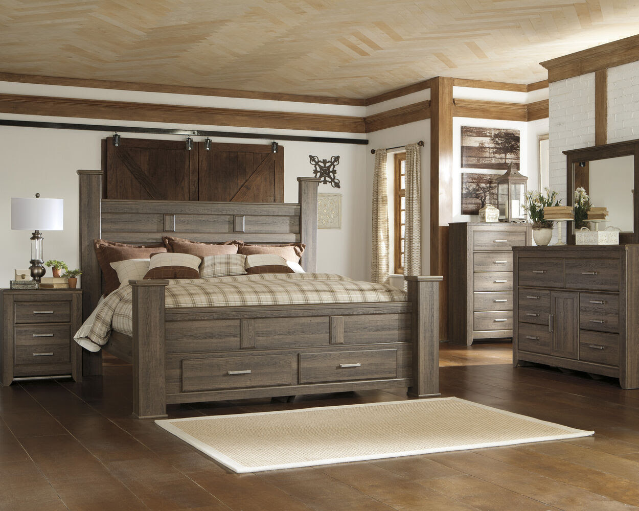 Ashley Juararo Storage Bed | Mathis Brothers Furniture