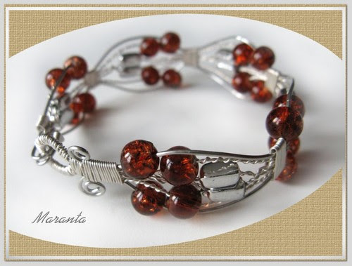 bransoletka wire wrapping