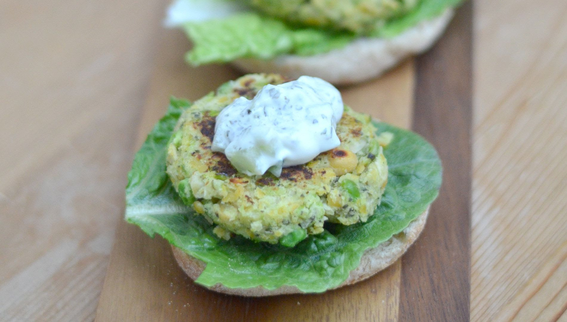 Minted Two Pea Burgers