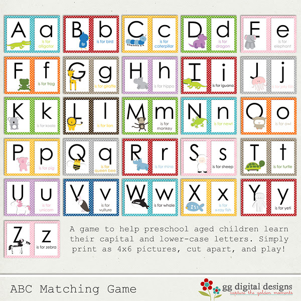 Exceptional image inside alphabet matching game printable