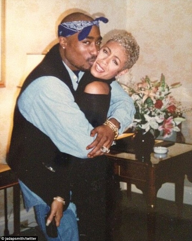 Inseparable: The actress maintained a close friendship with the late rapper for the rest of his life, before he was murdered in 1996